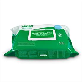 Clinell Universal Heavy Duty Multipurpose Wipes 100 - 6pk