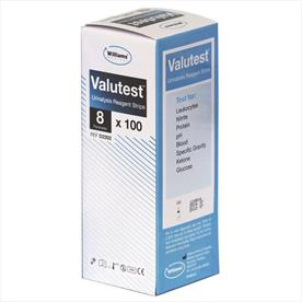 Williams Valutest 8 Parameter Urinalysis Strips x 100