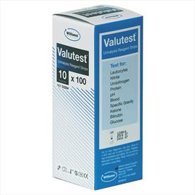 Williams Valutest 10 Parameter Urinalysis Strips x 100