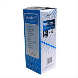 Williams Valutest 10 Parameter Urinalysis Strips x 50