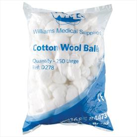 Williams Medical Cotton Wool Balls Small x 500