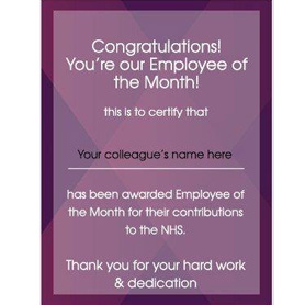 NHS Employee of the month!