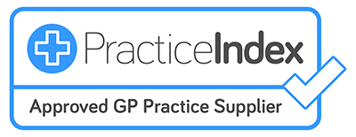 We are now registered with Practice Index as an approved GP practice supplier!