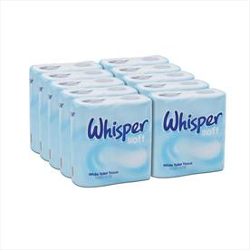 Whisper Soft Toilet Tissue x 40 Rolls