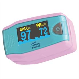 Paediatric Fingertip Pulse Oximeter with Case