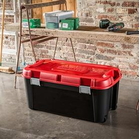 80L Wheeled Totem Plastic Storage Trunk