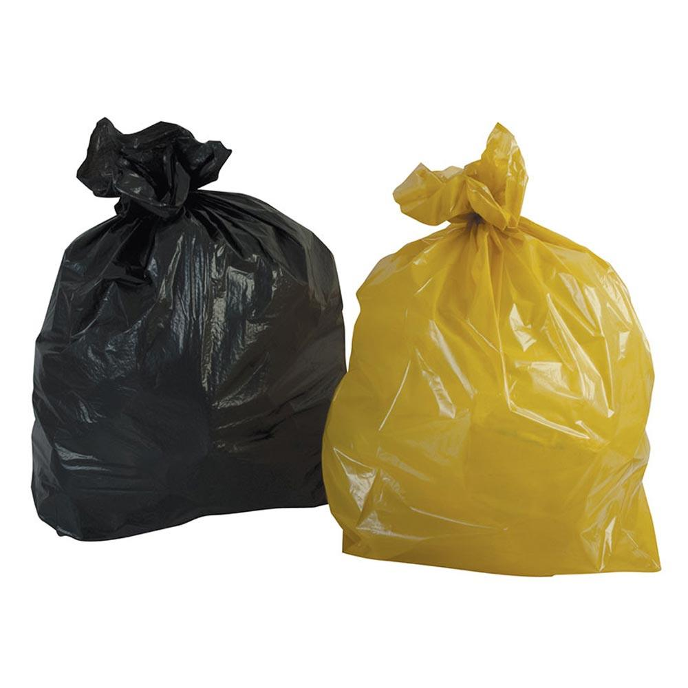 "Black Refuse Sacks 140g - 18"" x 29"" x 39"" x 200"