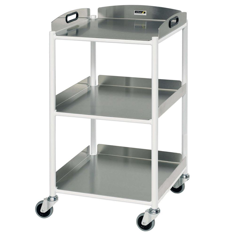 Sunflower Dressing Trolleys 46cm - 2 Glass Trays