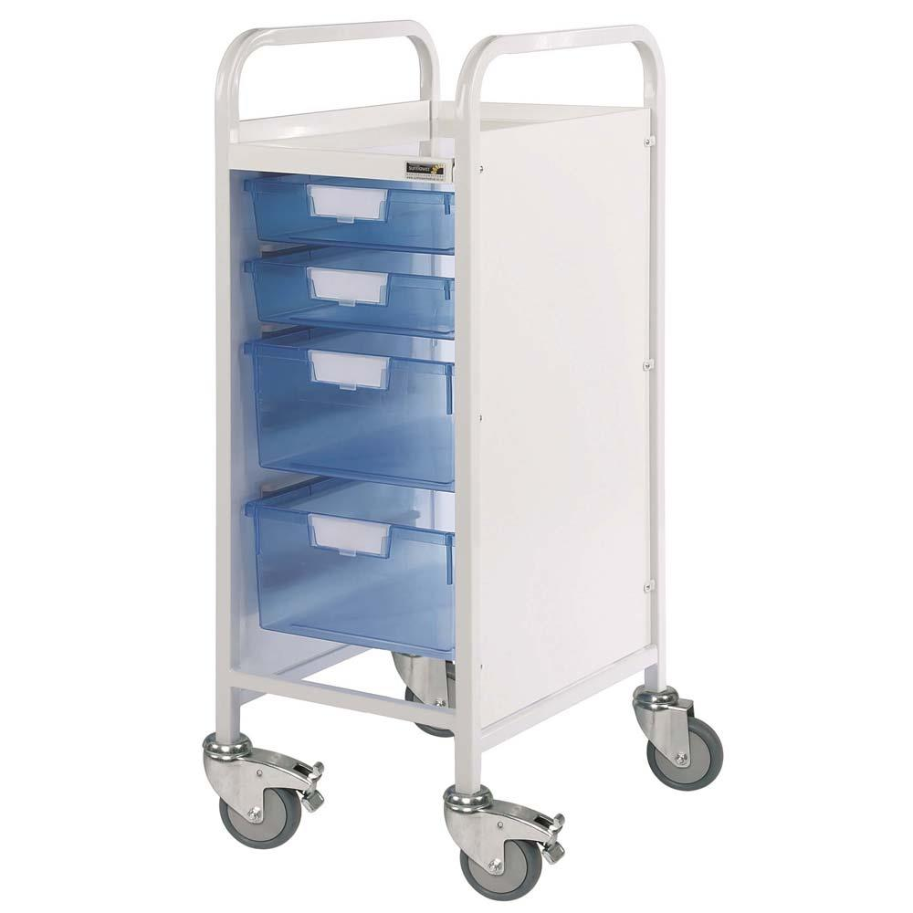 Vista 30 Treatment Trolleys 2 Shallow and 2 Deep Trays