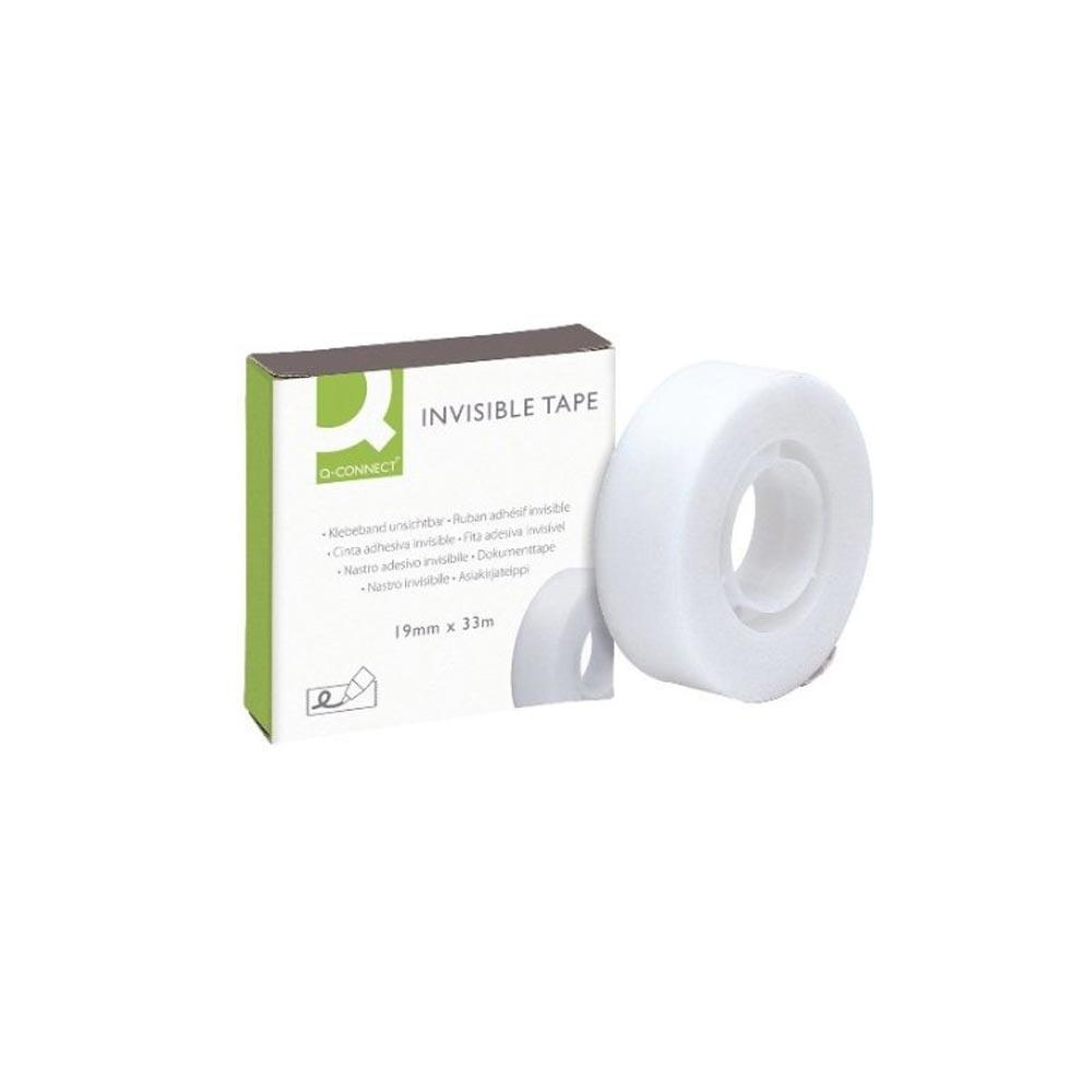 Q Connect Invisible Tape 19 x 33m