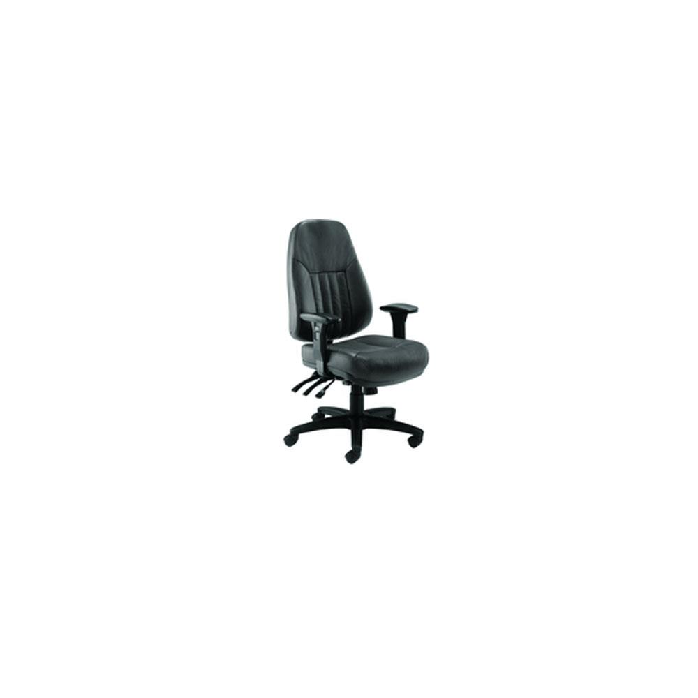 FF Avior 24Hr Heavy Duty Leather Chair Black