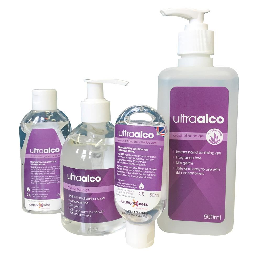 UltraAlco Alcohol Hand Sanitising Gel 500ml