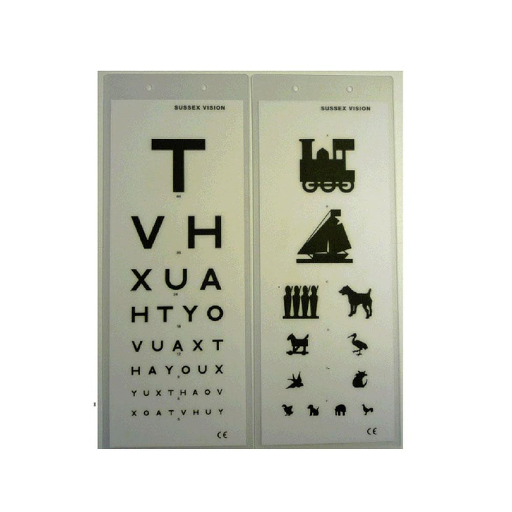 Eye Test Charts Double Sided - 3m