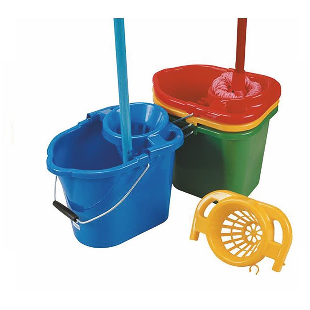 Mop Bucket with Rose 12 Litre - Blue