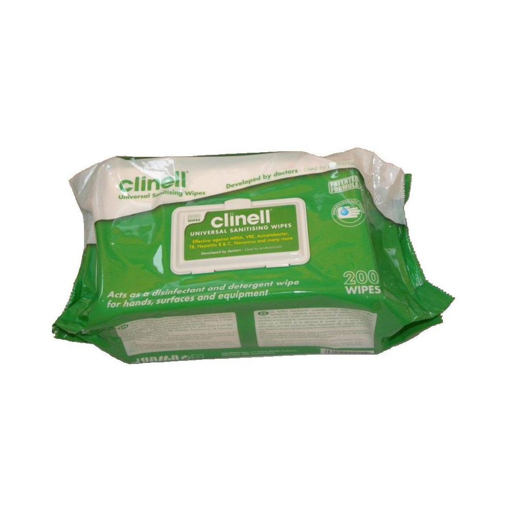 Clinell Universal Disinfectant Wipes Universal Wipes x 200