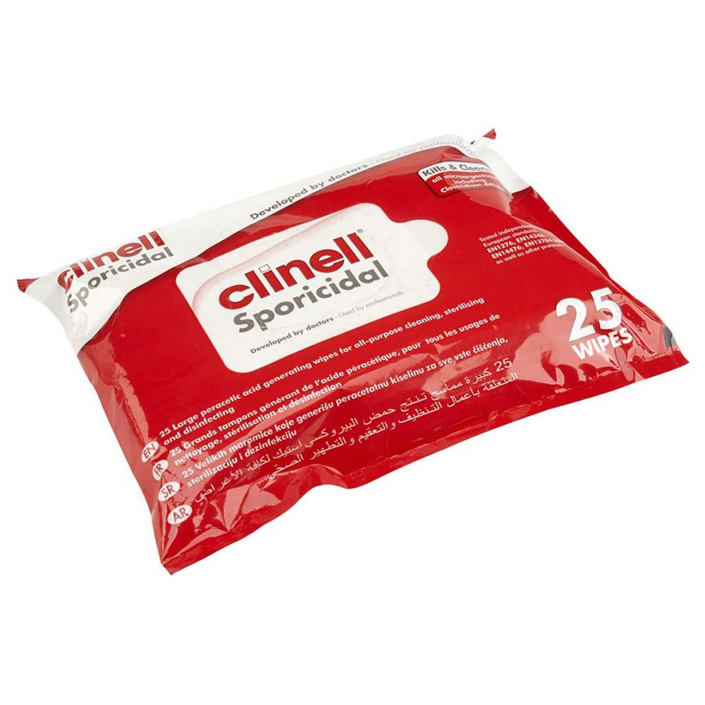 Clinell Sporicidal Wipes x 25