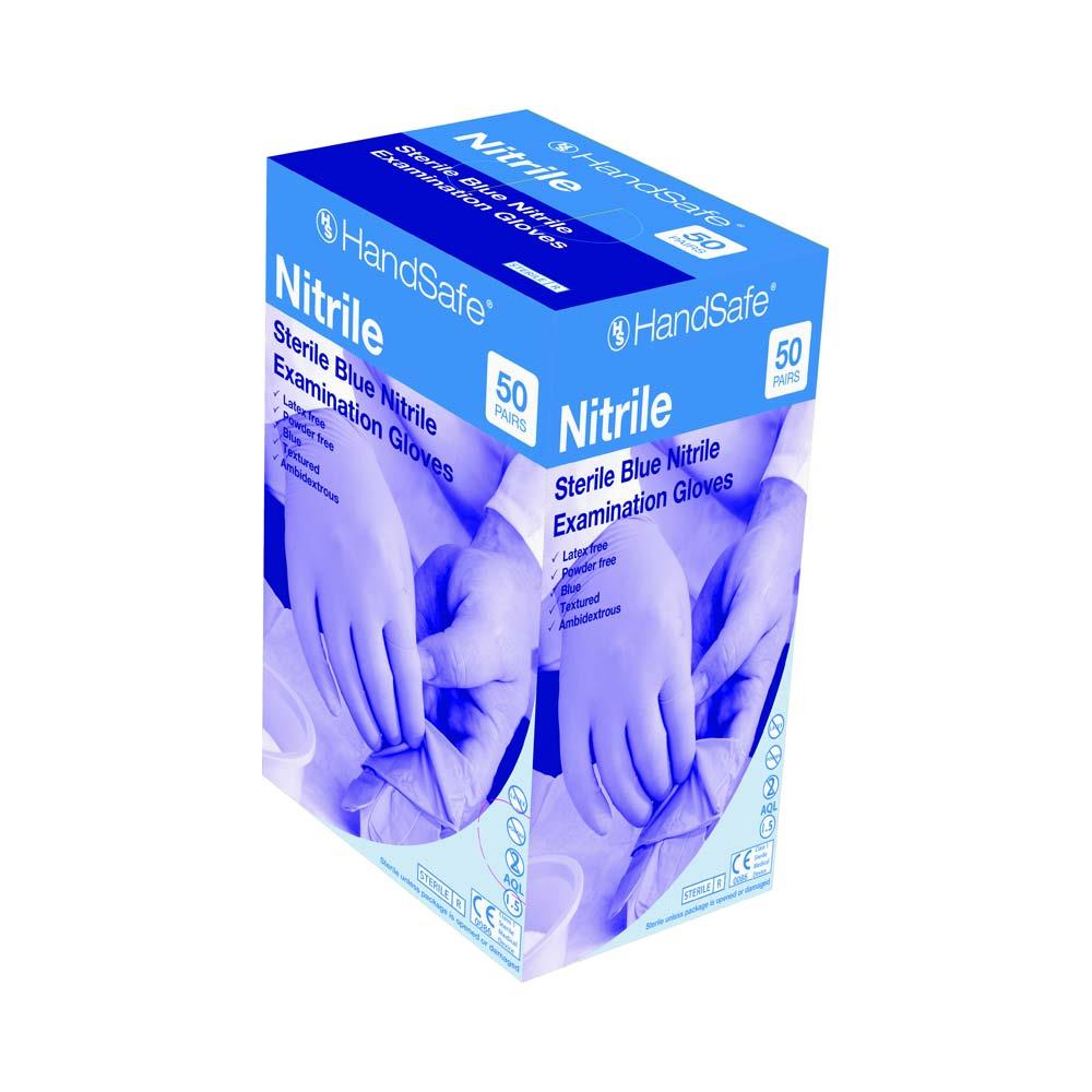 Sterile Nitrile Examination Gloves Small x 50 Pairs