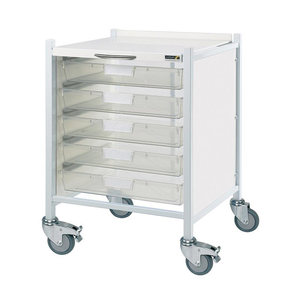 Vista 40 Trolleys 5 Single Depth Trays - - 80cm(h)x56cm(w)x52cm(d)