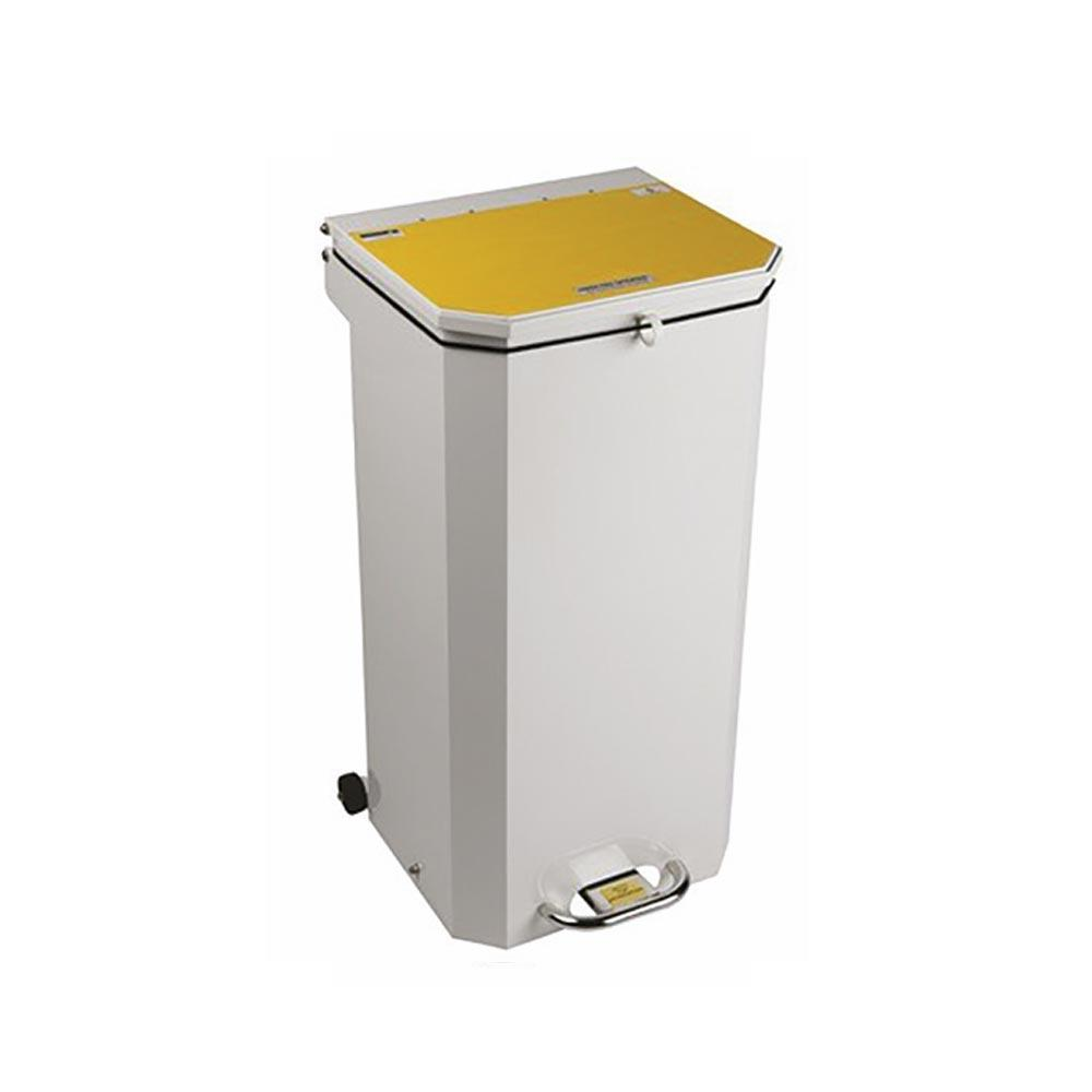 Sunflower 70 Litre Clinical Waste Bins White Lid (Amalgam Waste)
