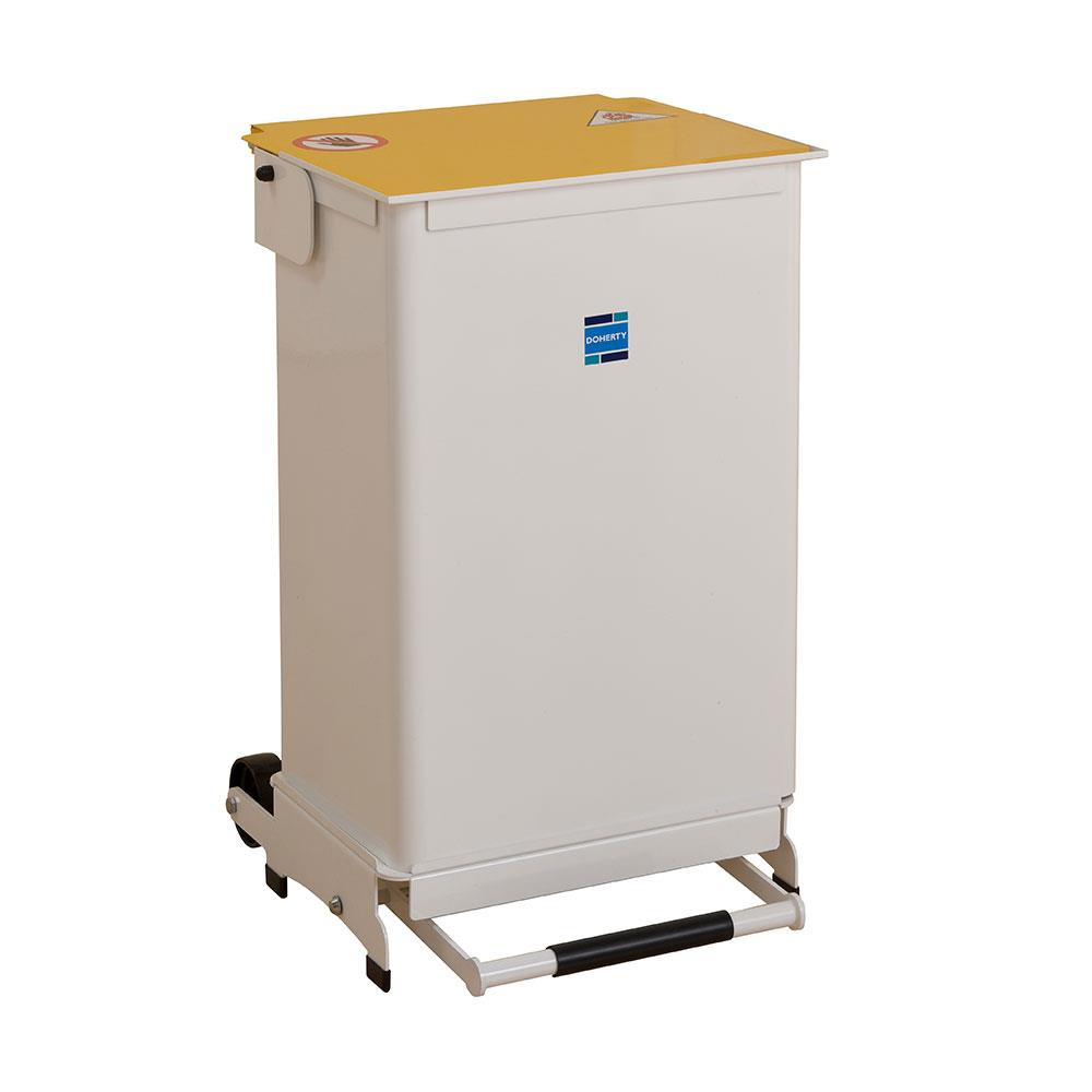 Doherty Kendal 50 Litre Medium Bins White Lid - Solid Body