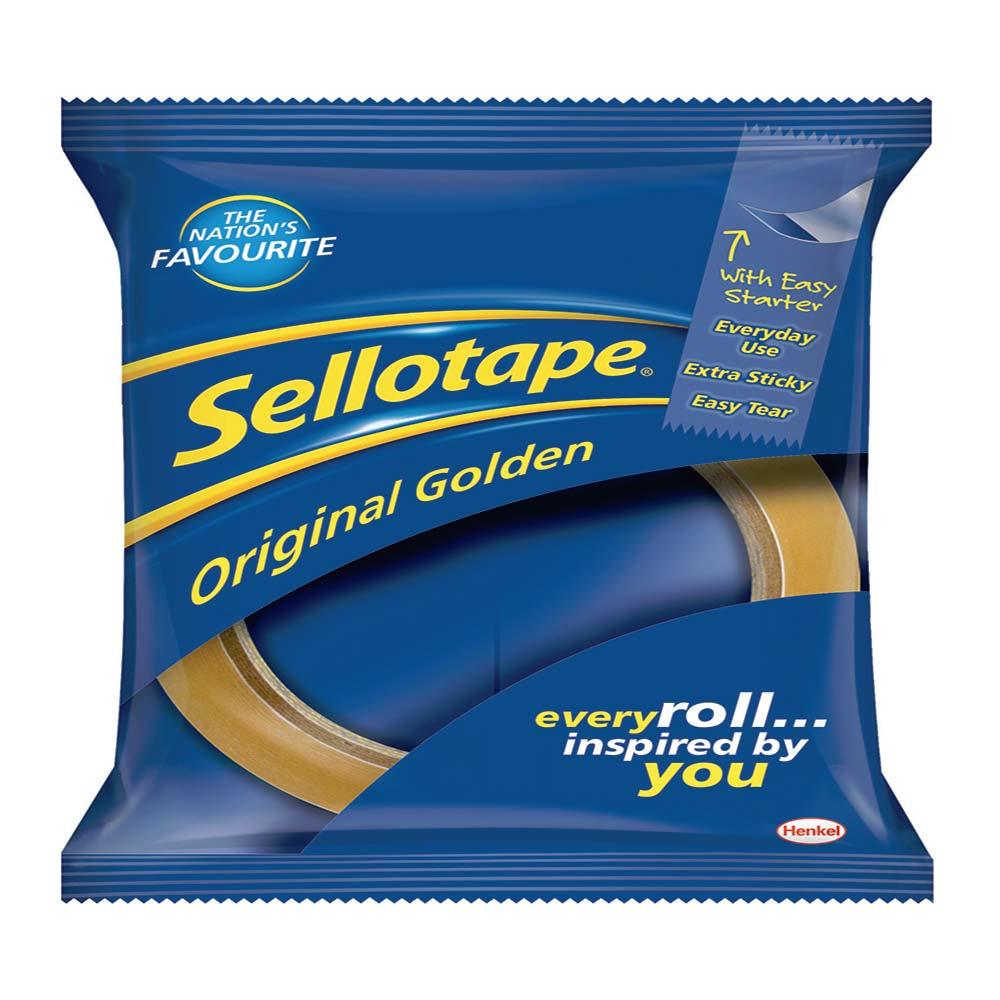 Sellotape Golden Tape 33m - Pack of 6