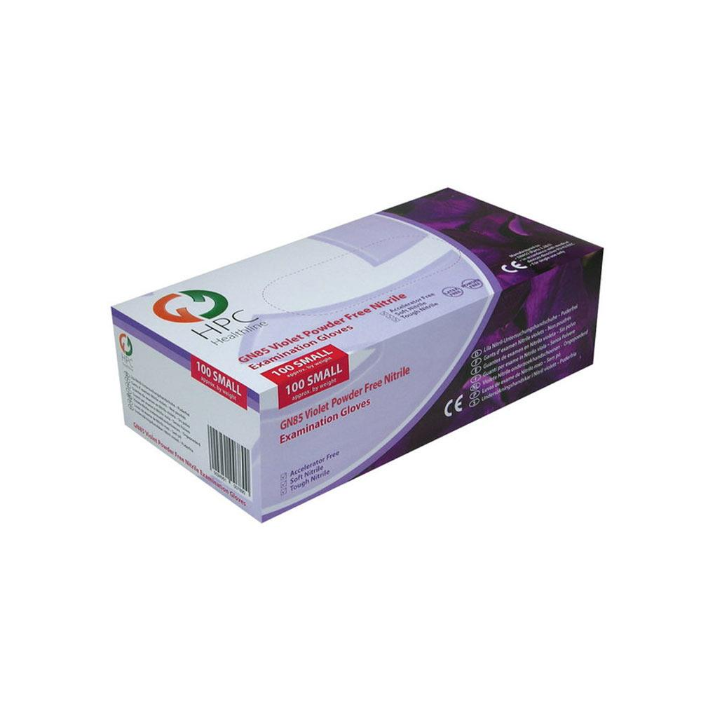 Handsafe Nitrile Examination Gloves - Violet Small x 100