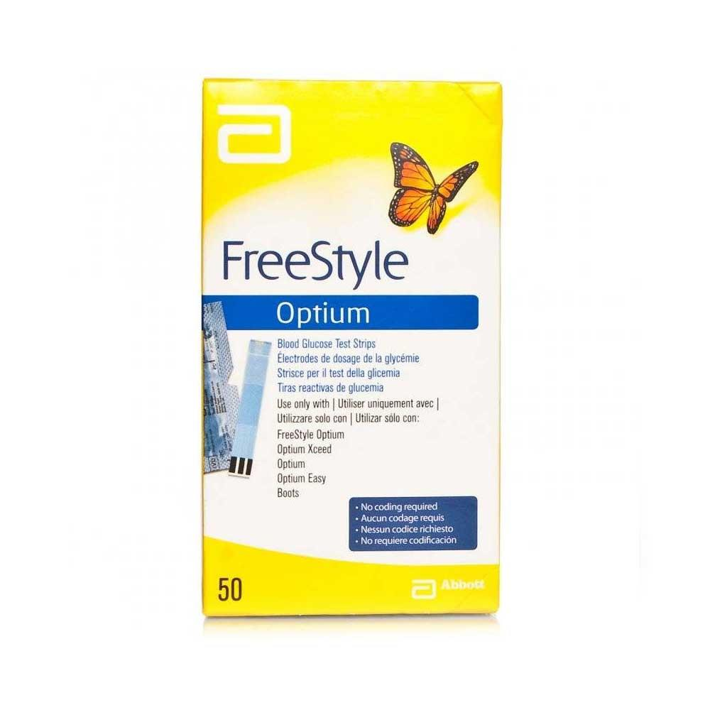 Freestyle Optium Glucose Testing Strips x 50
