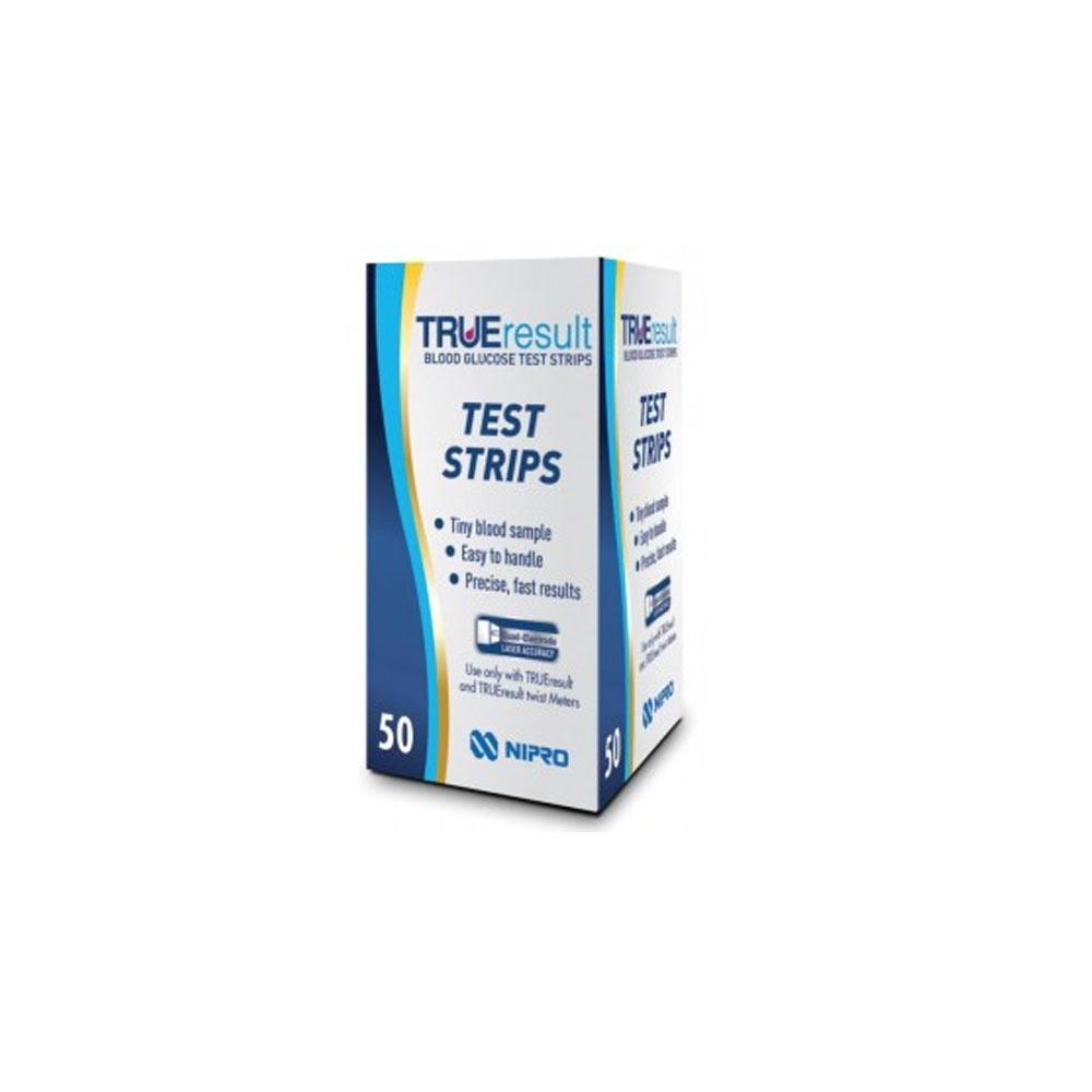 True-Result Blood Glucose Test Strips x 50