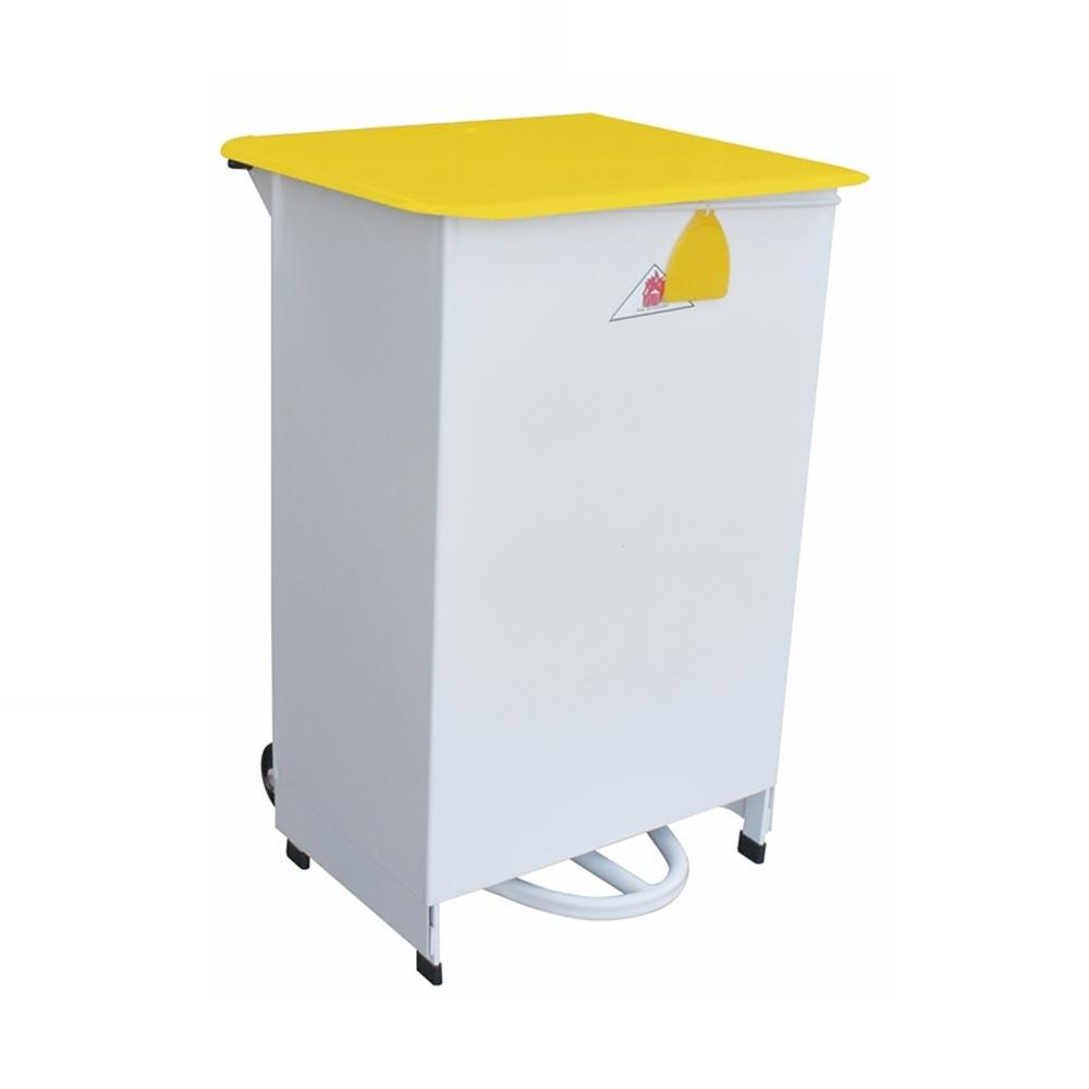 45 Litre Removable Sackholder Hands Free Silent Closing Yellow Lid