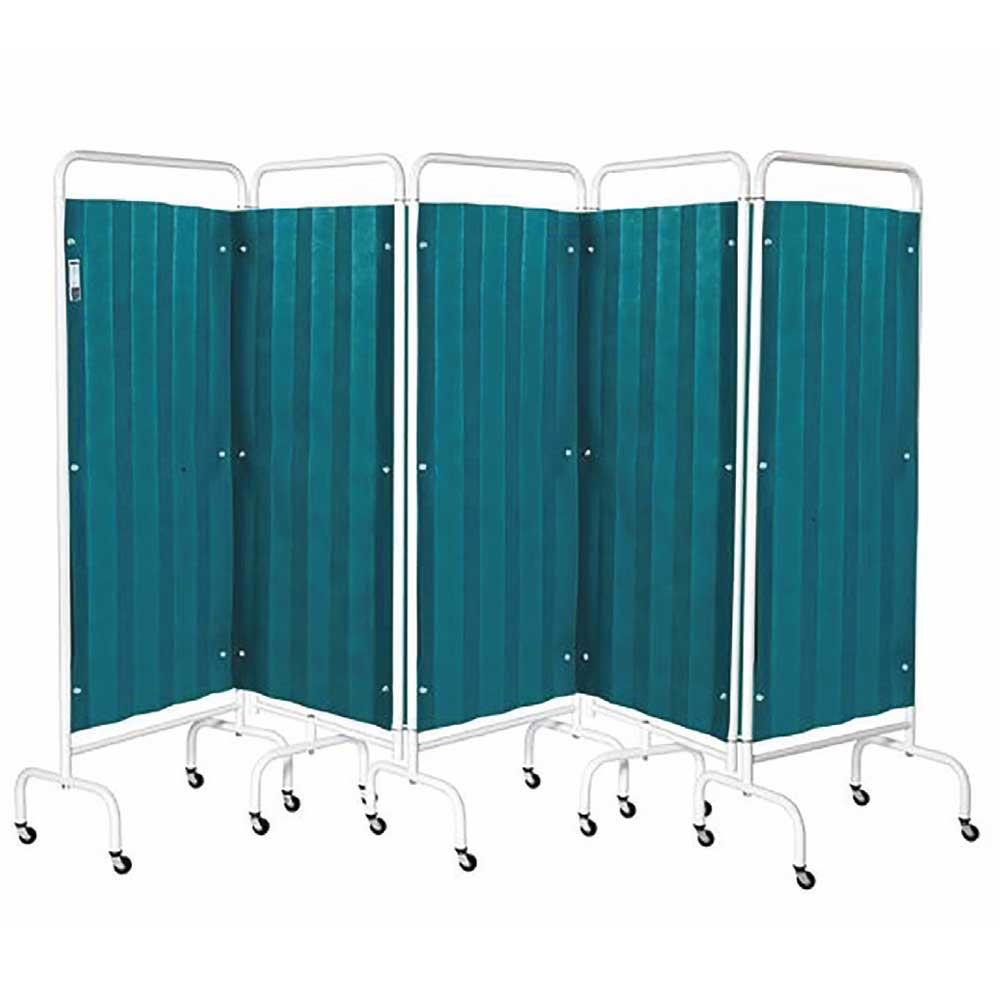 Sunflower Five Panel Curtained Ward Screens c/w Disposable Curtains