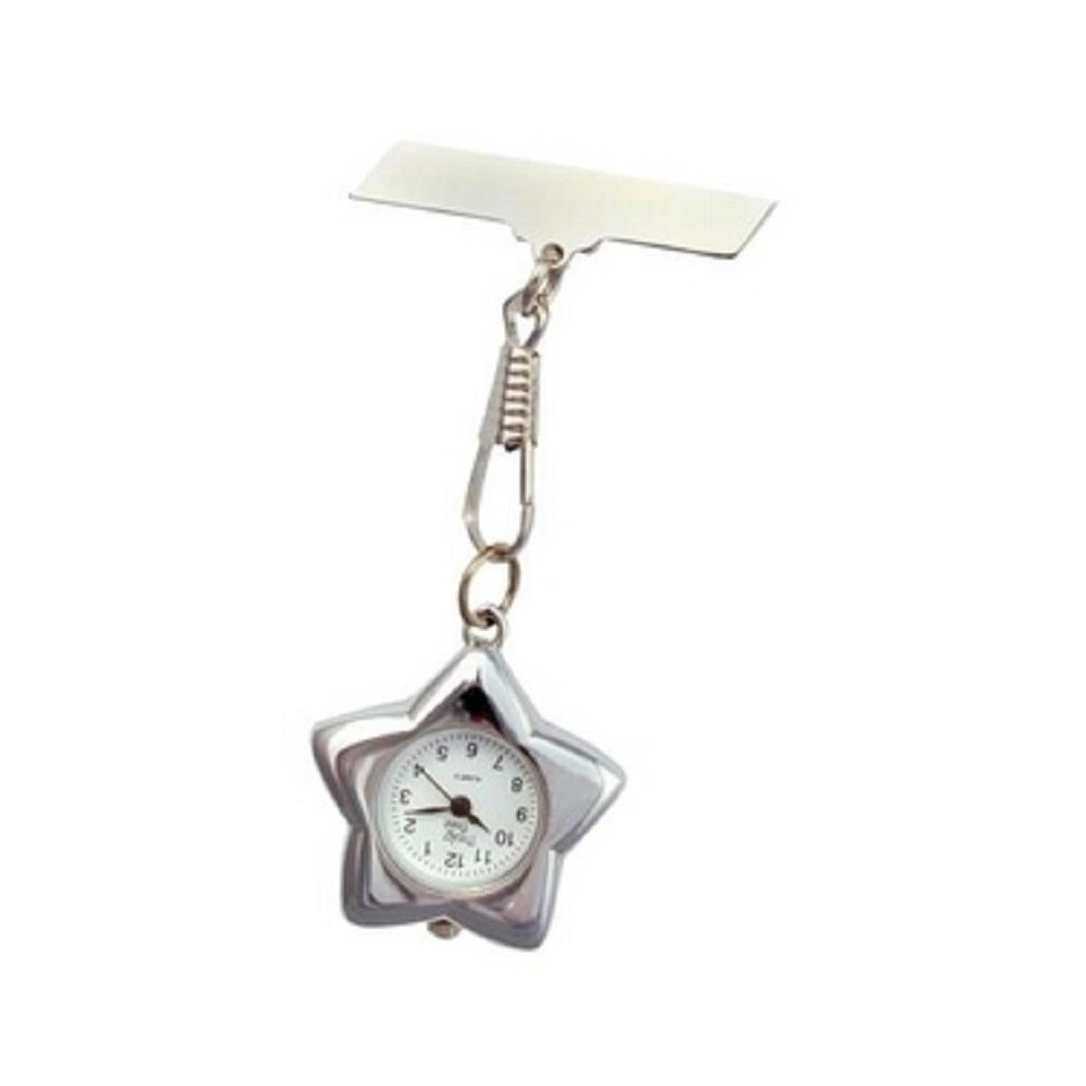 Star Fob Watch - Silver