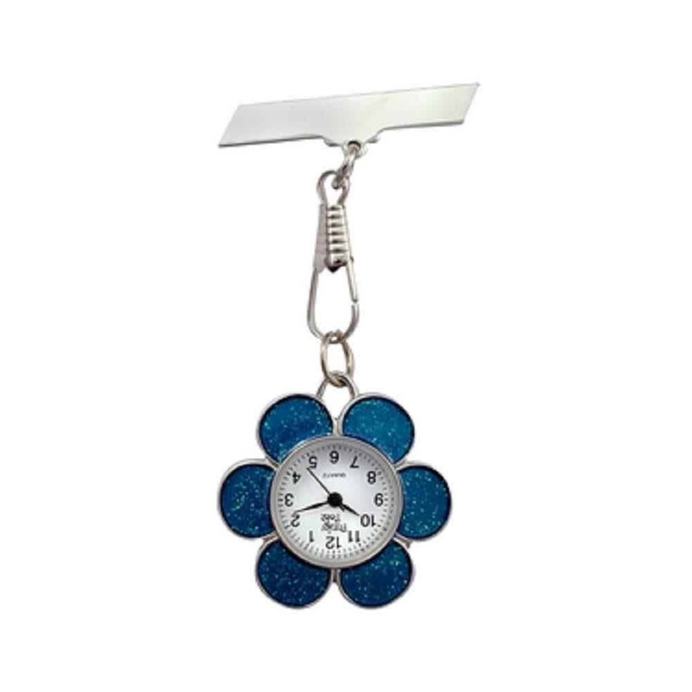 Flower Fob Watch - Blue