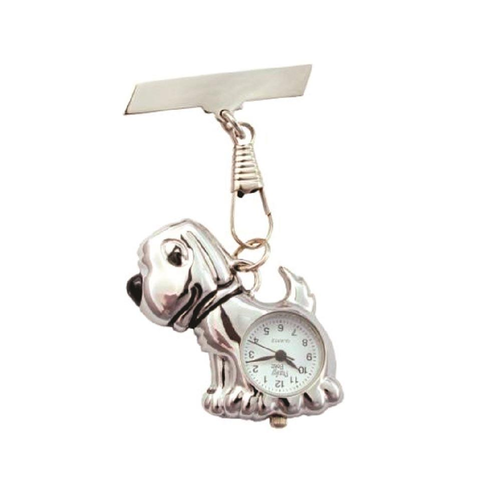 Dog Fob Watch - Silver