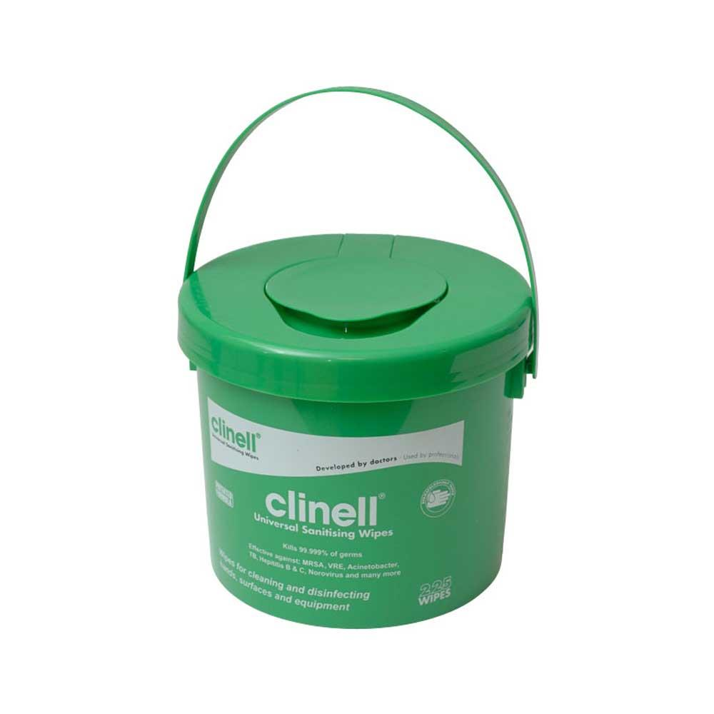 Clinell Sanitising Wipes Sanitising Wipes x 225 (Bucket)