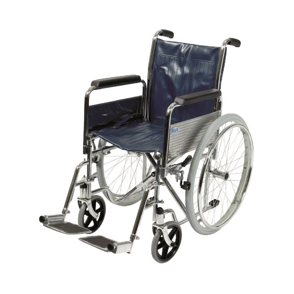 Self Propelling Wheelchair - Red Frame and Black Seat