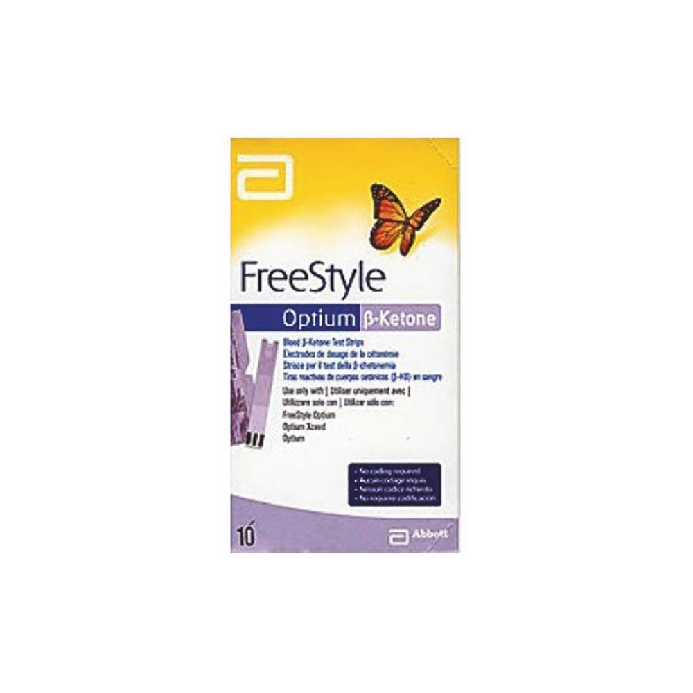 Freestyle Optium Ketone Testing Strips x 10