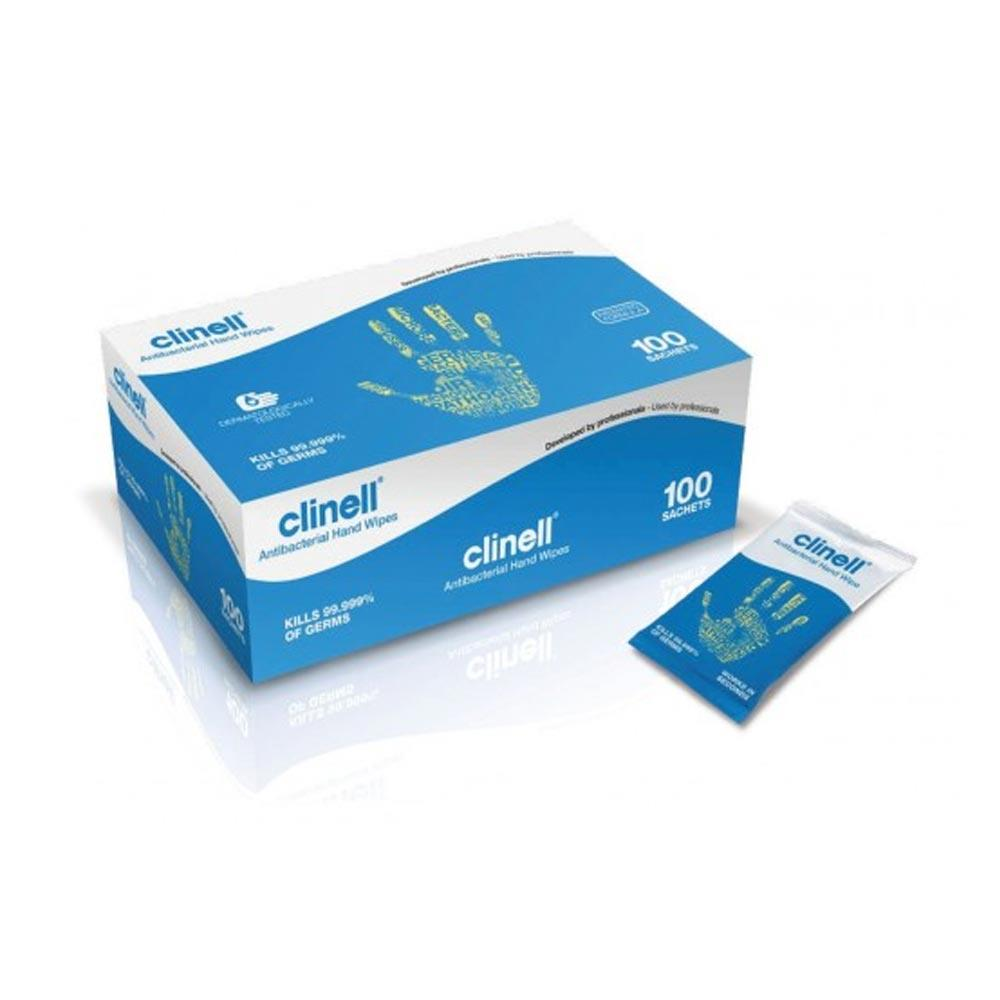 Clinell Antibacterial Hand Wipes x 100