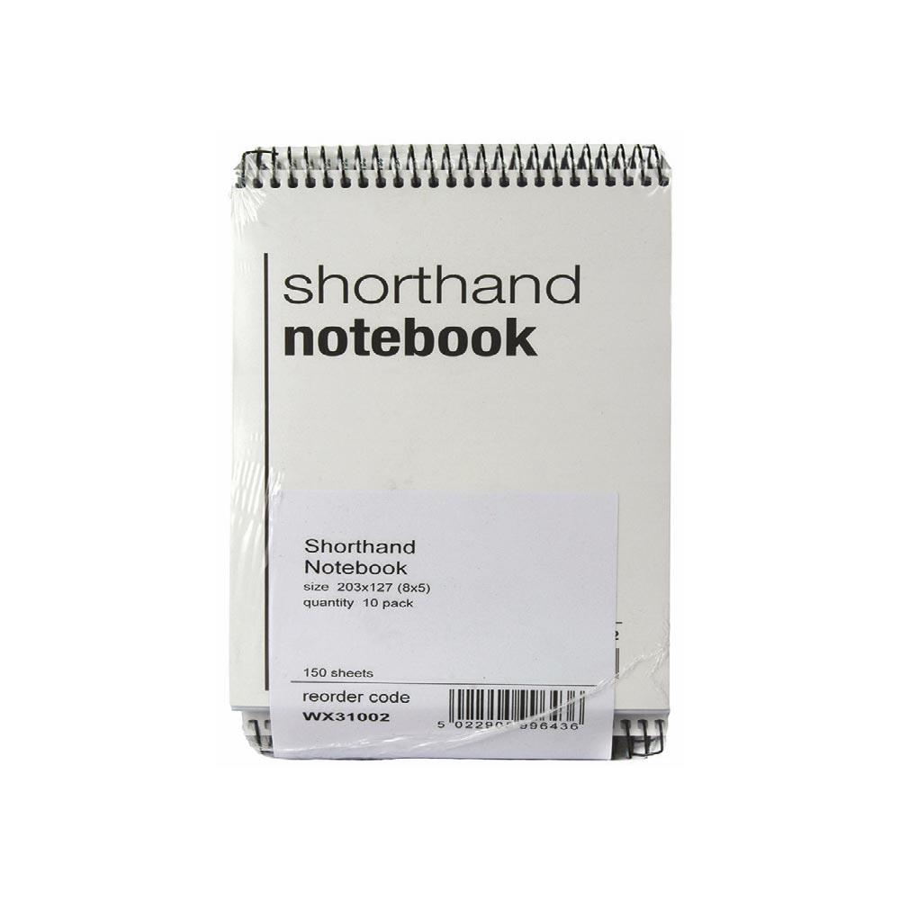 Shorthand Notebook 150 Leaf - Pack of 10